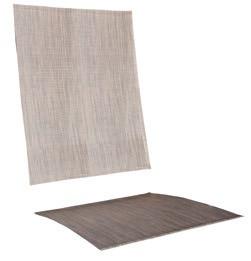 Textilen Braun für Salerno 6fach