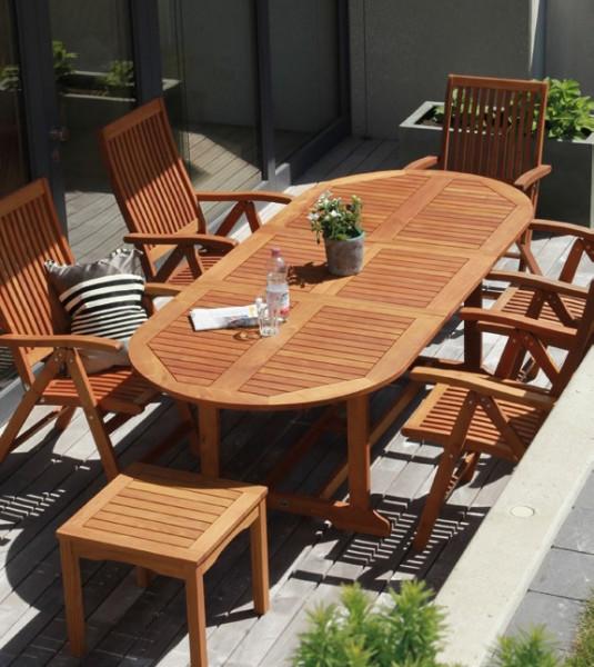 Marsala Gartenmöbel Set-Robinienholz