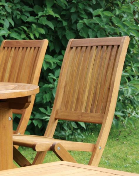 Stuhl Bari ohne Armlehne Robinienholz