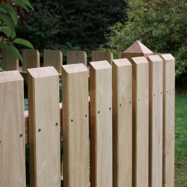Zaunlatten aus Robinienholz 20/95 mm