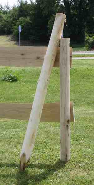 Robinienholz Pfähle geschält