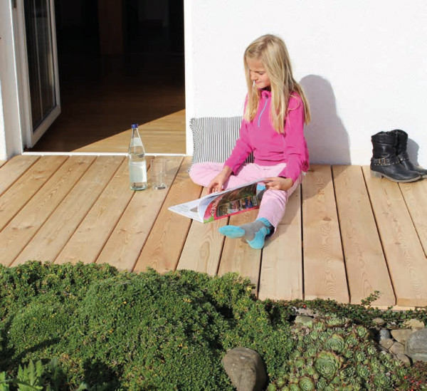 Terrassendiele sibirische Lärche 20 mm
