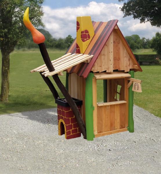 """Spielhaus """"Filio Schmiede"""" Robinien Holz"""