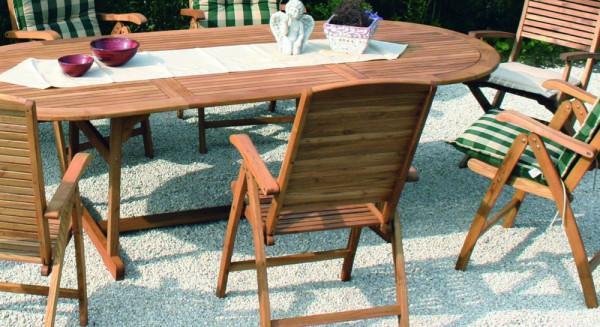 Tisch Capri 110x180x260 Robinien Holz